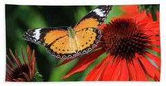 Orange Lacewing Hand Towel