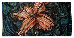 Orange Lily Hand Towel