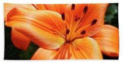 Orange Lily Joy Hand Towel