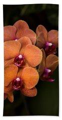 Orange Orchids Bath Towel