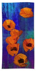 Orange Poppies Hand Towel