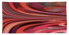 Bath Towel featuring the digital art Orange Reflection by Mihaela Stancu