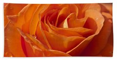 Orange Rose 2 Bath Towel by Steve Purnell