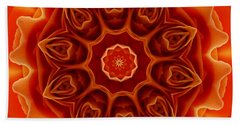Orange Rose Mandala Hand Towel