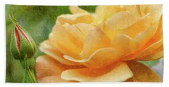 Orange Rose Painterly Bath Towel
