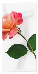 Orange Rose Specimen Bath Towel