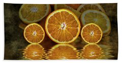 Orange Slices Hand Towel by Shirley Mangini