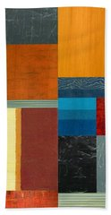 Bath Towel featuring the painting Orange Study With Compliments 3.0 by Michelle Calkins