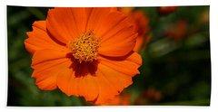 Orange Sulfur Cosmos Flower Bath Towel
