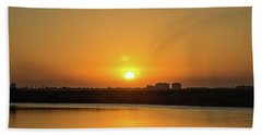 Orange Sunrise Bath Towel