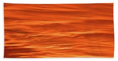 Orange Sunset Abstract Bath Towel by Tony Grider
