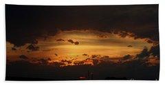 Bath Towel featuring the photograph Orange Sunset by Ann E Robson