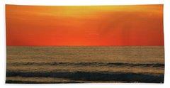 Orange Sunset On The Jersey Shore Bath Towel