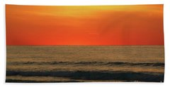 Orange Sunset On The Jersey Shore Hand Towel