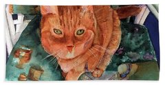 Orange Tabby Bath Towel