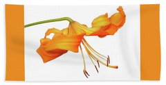 Orange Tiger Lily Bath Towel