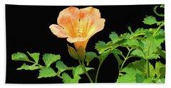 Orange Trumpet Flower Bath Towel by Susan Lafleur