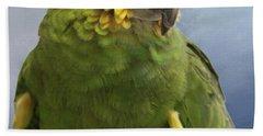 Orange Wing Amazon Parrot Bath Towel