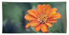 Orange Zinnia Hand Towel
