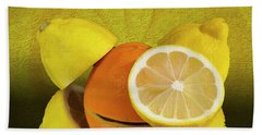 Oranges And Lemons Hand Towel by Shirley Mangini