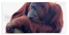 Orangutan - Color Version Bath Towel by Lana Trussell
