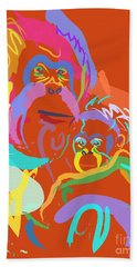 Orangutan Mom And Baby Hand Towel by Go Van Kampen