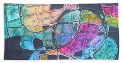 Orbs Bath Towel by Nancy Jolley