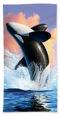Orca 1 Hand Towel by Jerry LoFaro