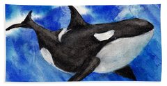 Orca Baby Hand Towel