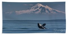 Orca - Mt. Baker Bath Towel