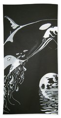 Orca Sillhouette Hand Towel by Mayhem Mediums