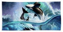 Orca Wave Hand Towel