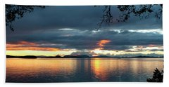 Orcas Island Sunset Bath Towel