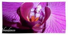 Orchid Abundance Bath Towel