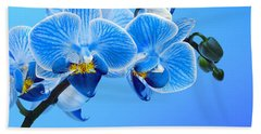 Orchid Blue Hand Towel by Mark Rogan