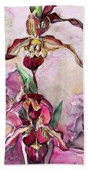 Orchid Slipper Foot Hand Towel