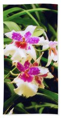 Hand Towel featuring the painting Orchids 1 by Sandy MacGowan