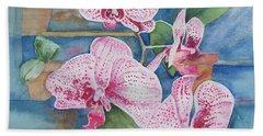 Orchids Bath Towel by Christine Lathrop