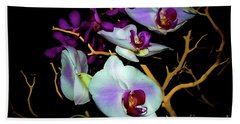 Bath Towel featuring the photograph Orchids In Water Color by Diana Mary Sharpton