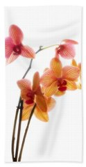 Orchids Bath Towel by Mark Alder