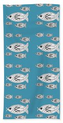Orderly Formation - School Of Fish Hand Towel