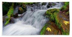 Bath Towel featuring the photograph Oregon Cascade by Jonathan Davison