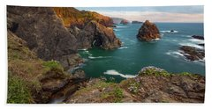 Bath Towel featuring the photograph Oregon Coastal Scenic by Leland D Howard