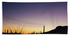 Organ Pipe Cactus National Monument Sunset Hand Towel