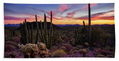 Organ Pipe Cactus Sunset Part Two  Hand Towel