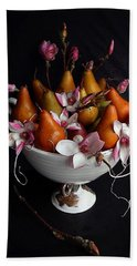 Organic Bosc Pears And Magnolia Blossoms Hand Towel