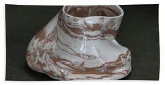 Organic Marbled Clay Ceramic Vessel Hand Towel by Suzanne Gaff