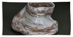 Organic Marbled Clay Ceramic Vessel Bath Towel by Suzanne Gaff