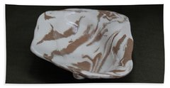 Organic Oval Marbled Ceramic Dish Hand Towel by Suzanne Gaff