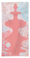 Oriental Far East Design Red Hand Towel